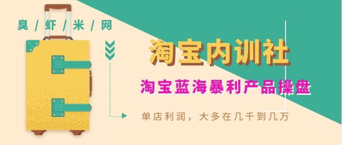 《淘宝内训社》淘宝蓝海暴利产品操盘,单店利润,大多在几千到几万