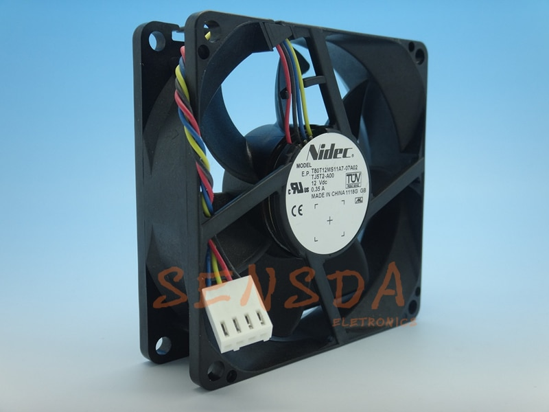 NIDEC T80T12MS11A7-07A02 8025 PWM 4P 0.35A 8cm four-wire PWM server inverter cpu cooling fan