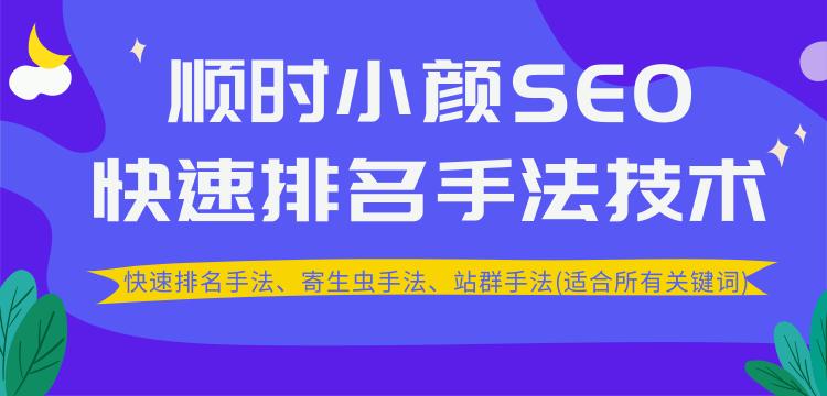 SEO快速排名手法技术教程、寄生虫手法、站群手法(适合所有关键词)无水印